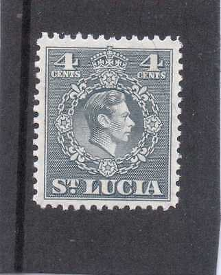 St.LUCIA GV1 1949-50 new currency 4c  sg 149 L.H.MINT