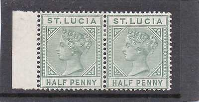 St.LUCIA Vic 1883-86 pair 1/2d dull green  sg 31 HH.MINT