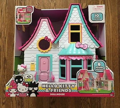 Hello Kitty and Friends Doll House, NEW Figure Dollhouse house playset