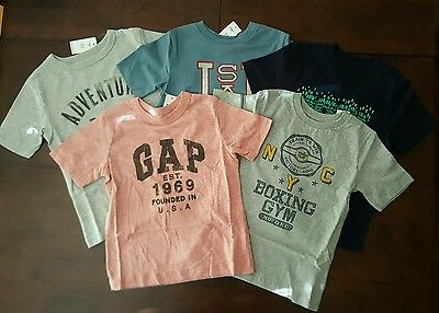 NWT Gap Gymboree 5 Piece Short-sleeve Shirt Lot Size XS 4 5 years 4T 5T