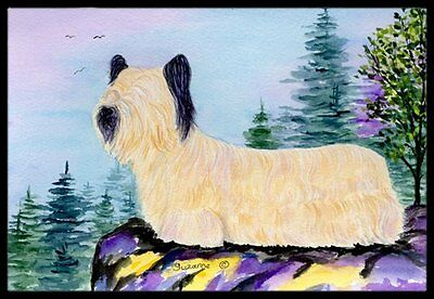 Caroline's Treasures Skye Terrier Indoor Outdoor Doormat 18inx27in Multicolor