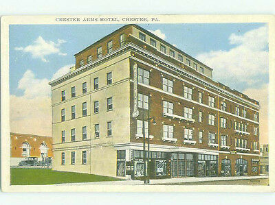 W-Border SHOPS ON STREET & CHESTER ARMS HOTEL Chester Pennsylvania PA HQ4500