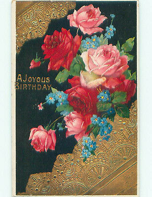 Pre-Linen BEAUTIFUL PINK AND RED ROSE FLOWERS J2941