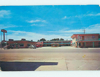 Damaged Pre-1980 BYERLy's MOTEL Guymon Oklahoma OK M4409