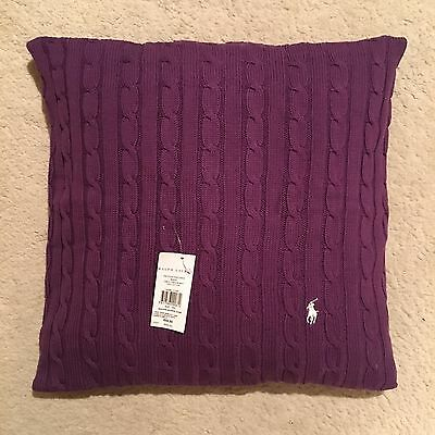 Ralph Lauren Home Polo Player Cushion Cover - Purple Size 45x45cm RRP £109.00