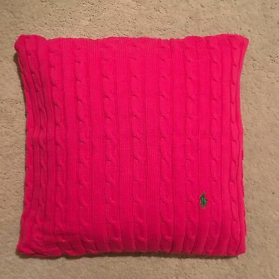 Ralph Lauren Home Polo Player Cushion Cover - Pink Size 45x45cm RRP £109.00