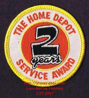 LMH PATCH Badge  HOME DEPOT Customer Merit 2 YEARS SERVICE AWARD Year Curvy 2.5""