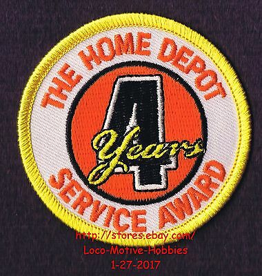 LMH PATCH Badge  HOME DEPOT Customer Merit 4 YEARs SERVICE AWARD Year Block 2.5""