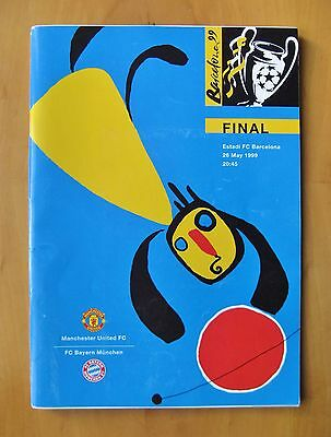 1999 Champions League Final BAYERN MUNICH v MANCHESTER UNITED Exc Cond Programme