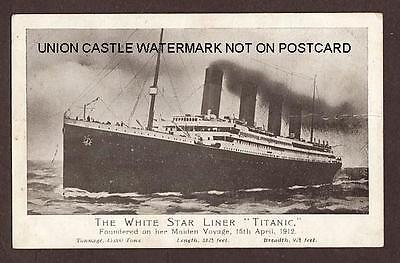 Scarce Original Postcard White Star Line Ss Titanic 1912