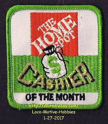 LMH PATCH Badge  HOME DEPOT  Employee CASHIER Of Month Accurate Certified 2-5/8""