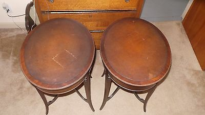 Antique Vintage Mahogany End Tables  Early 1900's Good Condition Used