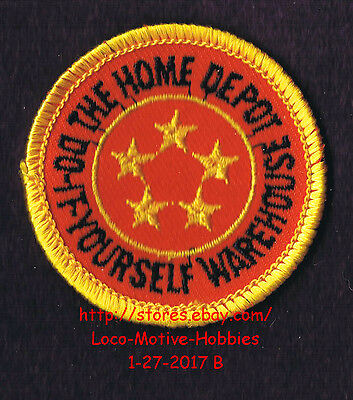 LMH PATCH Badge  HOME DEPOT WAREHOUSE Employee 5 STAR AWARD Service Work 2""