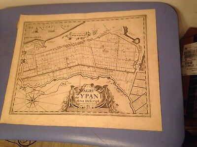 Antique Map Agri Zypani Netherlands Latin Text Early Atlas 1617 Copper Plate