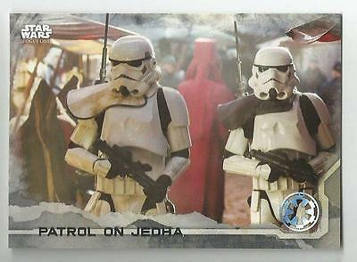 2016 Star Wars Rogue One Series One Gray Squad #22 Patrol on Jedha 061/100