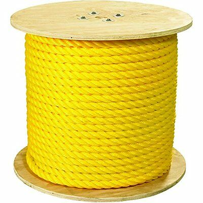Twisted Polypropylene Rope 1in 12800lb Yellow 600ft, New