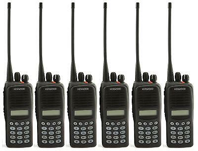 KENWOOD TK2180 VHF 5 WATT WALKIE-TALKIE TWO WAY RADIOS x 6 FARMING & COUNTRY USE