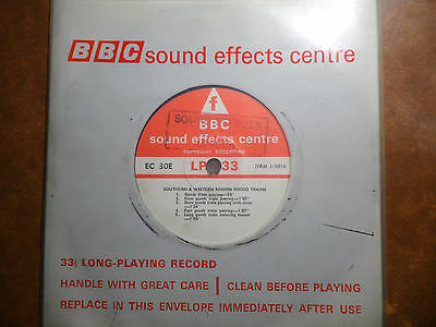 """BBC Sound Effects 7"""" Record - Southern & Western Region Goods Train"""