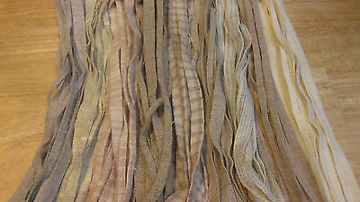 100-125-150 PRIMITIVE NATURALS  #8 cut wool strips for primitive rug hooking