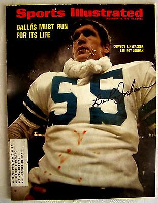 Lee Roy Jordan Dallas Cowboys 1972  Autographed Signed Sports Illustrated SI