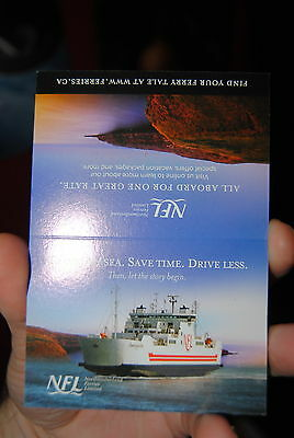 Northumberland Ferries LTD MV Confederation ship table advertisement