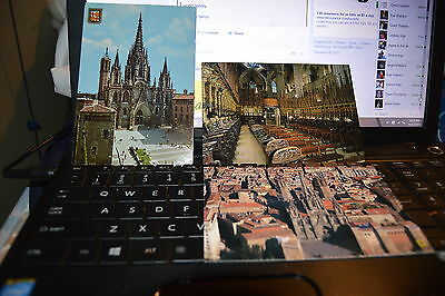3 Barcelona Cathedral postcards