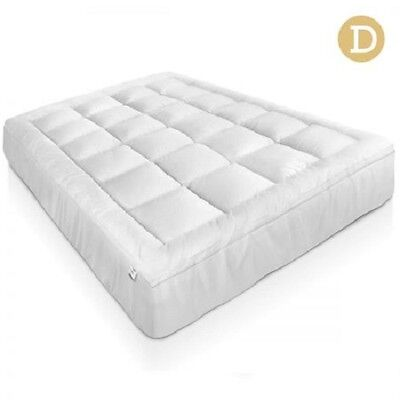 NEW Double Bed Size 1000GSM  Duck Feather and Down Pillowtop Mattress Topper 5cm