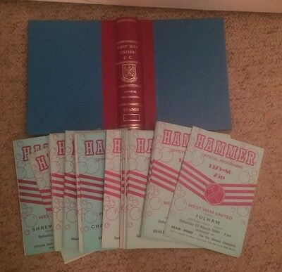 Set Of West Ham United Home Programmes + 17 Aways 79/80 Season + Storage Binder