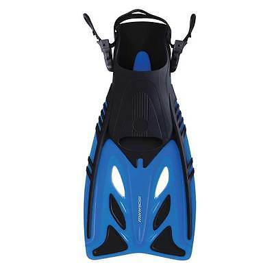 Mirage Crystal Kids Snorkel Dive Swimming Pool Fins / Flippers BLUE Size S/M
