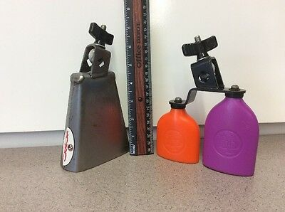 Salsa LP Cowbells lot. One metal, two plastic. Good. For Drums
