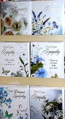 BEAUTIFUL SYMPATHY FEMALE CARDS by 'ECLIPSE' x36,JUST 39p!,with inserts, wrapped