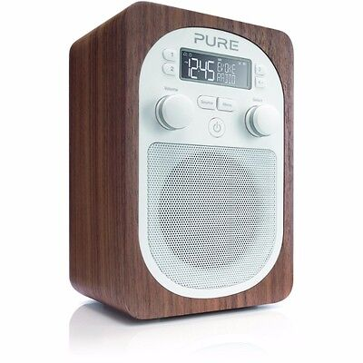 Pure Evoke D2 Portable Digital DAB/FM Radio with Real Wood Cabinet - Brand New