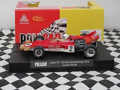 Policar Lotus 72  #2 Jochen Rindtl  Red Car02A 1:32 Slot Bnib
