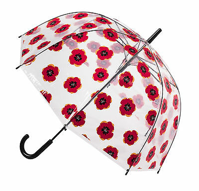 Soake Clear Dome Umbrella - Poppy