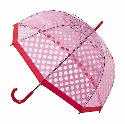 Soake Clear Dome Umbrella - Pink Polka Dot