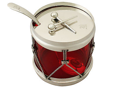 Antique American Sterling Silver 'Drum' Preserve Pot, Circa 1890