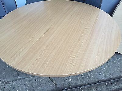Beech Round  Meeting Table Office Furniture