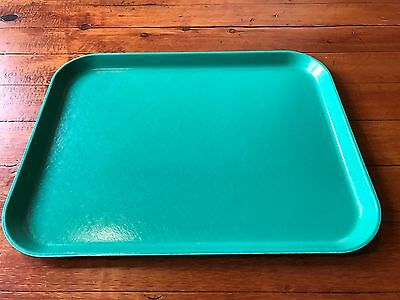 Large Vintage Dallas Ware Signed Turquoise Fiberglass Serving Tray