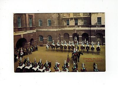 Gb Postcard Changing The Guard Whitehall London