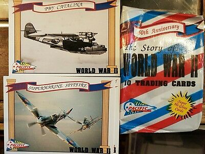 The Story Of World War 2 Trading Cards Full Set X110 +3 Video Offer Cards