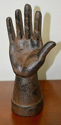 Cast Iron Spooky Hand Grave Yard Art Halloween Party Thing Table Decor Prop