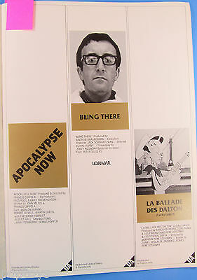 United Artists MOVIE PREVIEW PROGRAM '78 vtg VARIETY Lord of the RINGS Rocky II