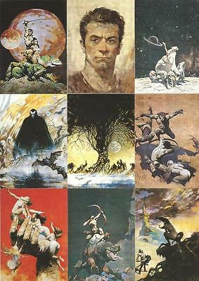Frazetta Series 1 Full 90 Card Base Set of Trading Cards from Comic Images