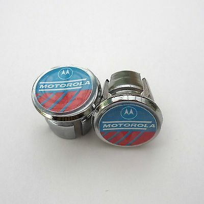 Vintage , Retro, Motorola Team, Chrome Racing Bar Plugs, Caps, Repro
