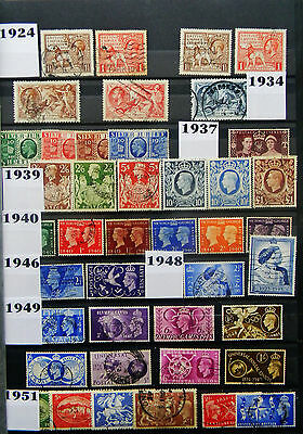 Gb Complete Commemorative Set Collection - 423 Used Sets 1924-2008