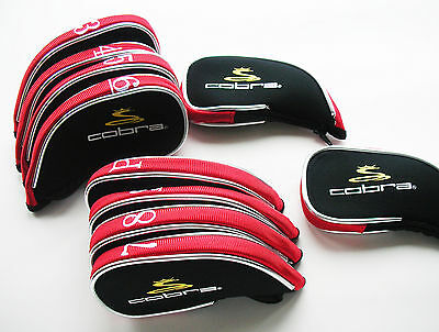 Cobra Golf Iron Covers For Complete Protection Black And Red