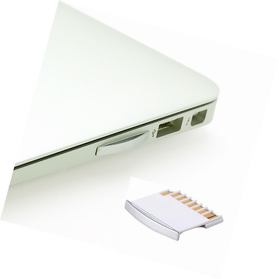 MacBook MicroSD Memory Card Adapter for MacBook Air / Pro 13 inch White with Sil