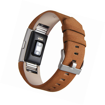 Fitbit Charge 2 Watch Band,V-Moro Soft Genuine Leather Charge 2 Watch Bands Repl