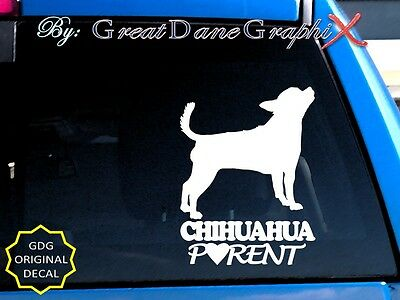 Chihuahua PARENT(S) - Vinyl Decal Sticker / Color Choice - HIGH QUALITY