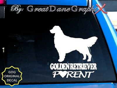 Golden Retriever PARENT(S) - Vinyl Decal Sticker / Color Choice - HIGH QUALITY